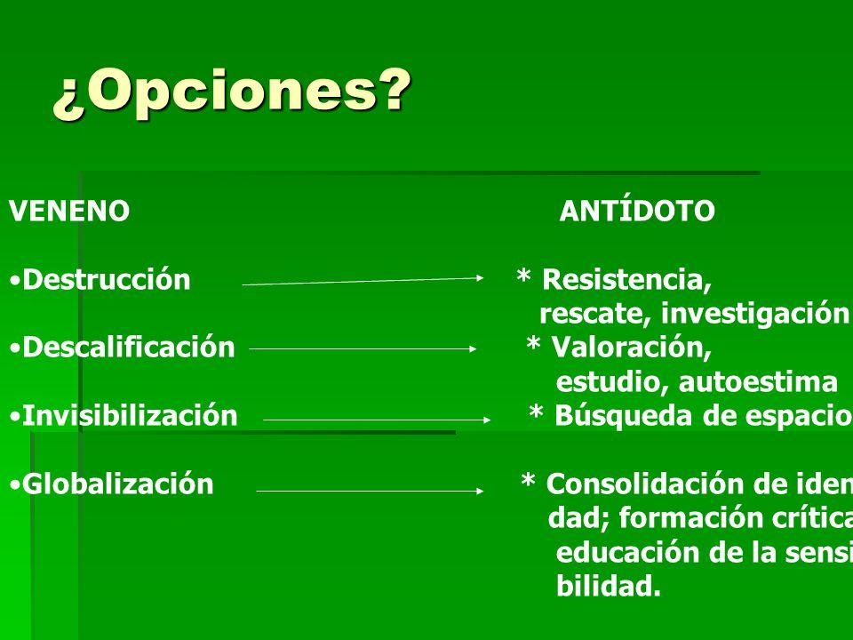 ¿Opciones.