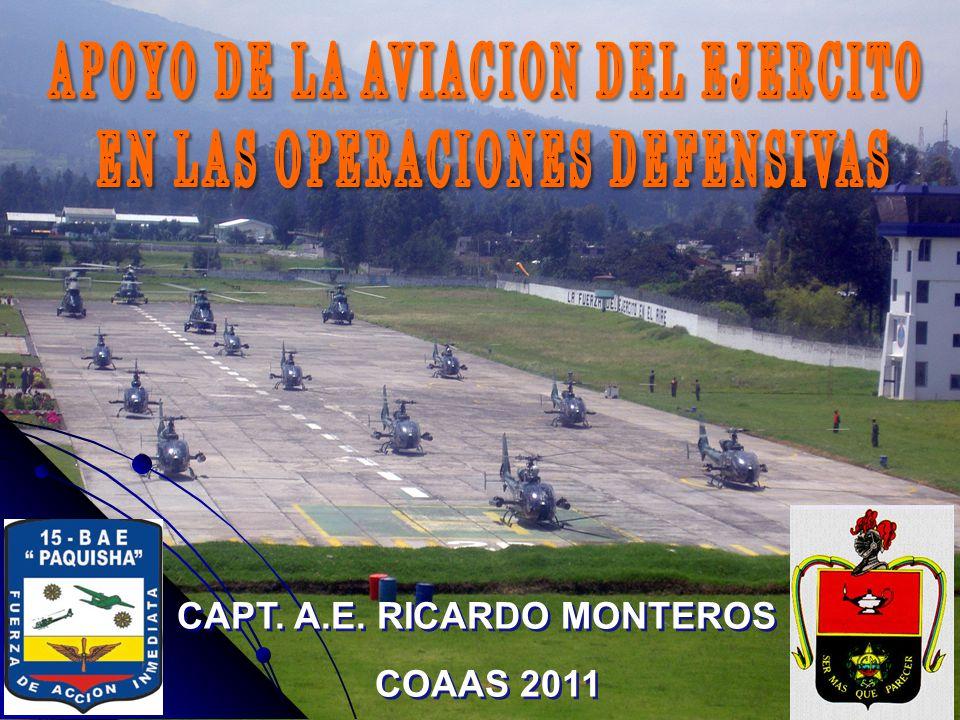 SUMARIO 1.MISIÓN DE LA AVIACIÓN DEL EJÉRCITO 2. GENERALIDADES 3.