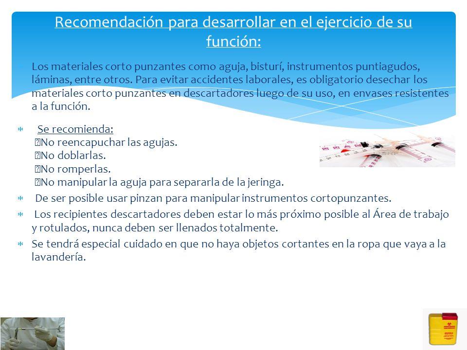 4. Protección ocular: 5. PROTECCIÓN CORPORAL (Uso de atuendo): Bata Gorros Lentes protectores