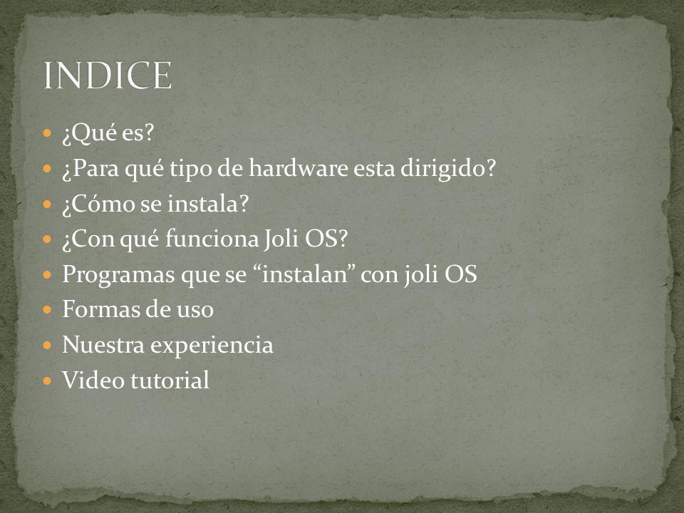Joli OS es un sistema operativo Linux basado en Ubuntu desarrollado por la compañía Jolicloud.