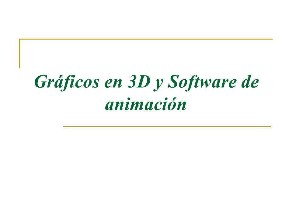 Gráficos en 3D y Software de animación
