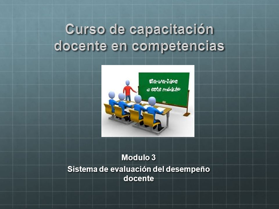 Modulo 3 Sistema de evaluación del desempeño docente