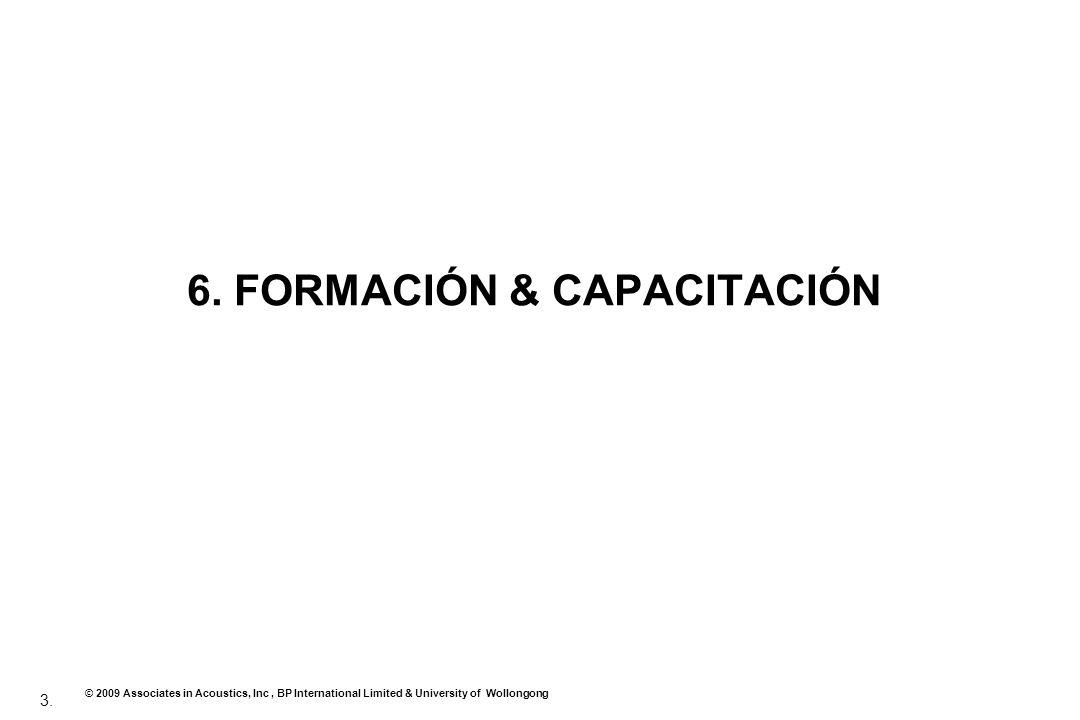 3. © 2009 Associates in Acoustics, Inc, BP International Limited & University of Wollongong 6. FORMACIÓN & CAPACITACIÓN