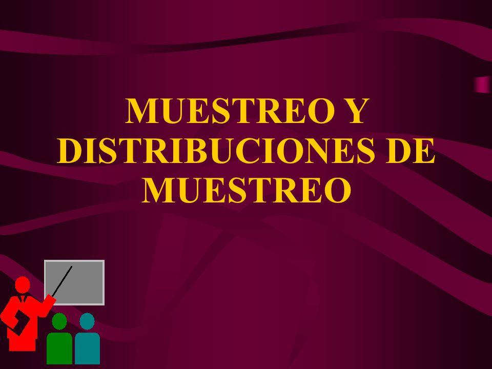 MUESTREO Y DISTRIBUCIONES DE MUESTREO