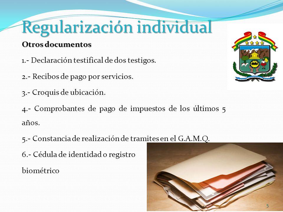 Regularización individual PROCESO SUMARIO Solicitud debe ser presentada ante el Juez de Instrucción en lo Civil o Comercial Demanda debe sujetarse a lo previsto por el Art.