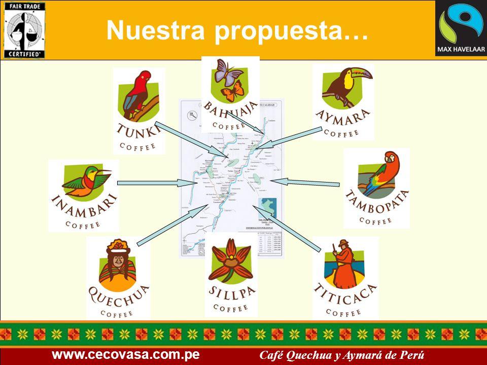 www.cecovasa.com.pe Café Quechua y Aymará de Perú Nuestra propuesta…