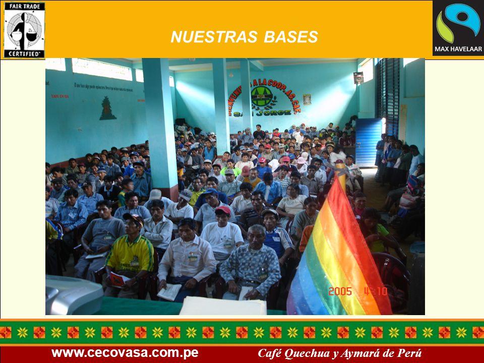 www.cecovasa.com.pe Café Quechua y Aymará de Perú NUESTRAS BASES