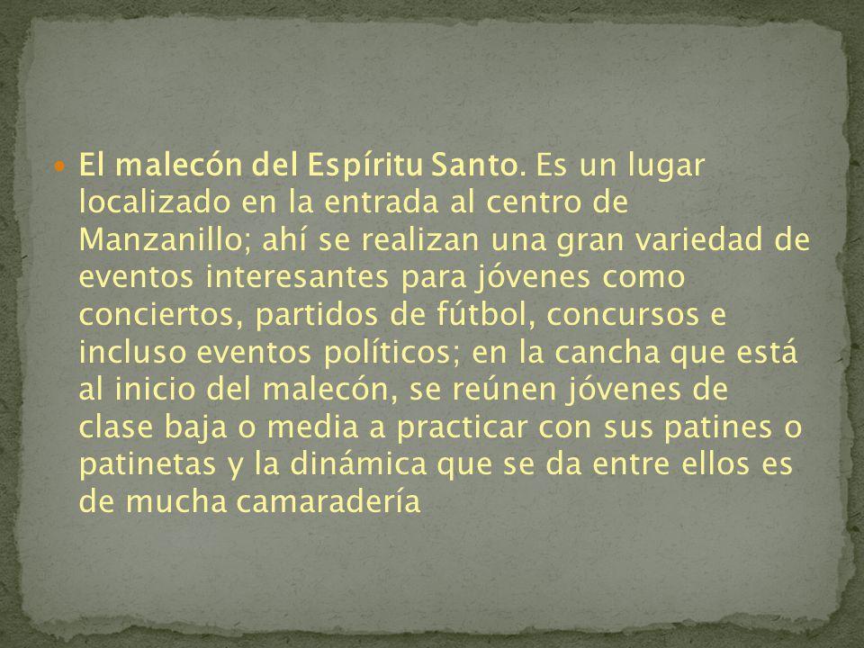 Manzanillo es un municipio mexicano del estado de Colima, ESTA REGION CUENTA CON NUMERABLES CENTRO CULTURALES COMO LOS SIGUIENTES:mexicanoColima Museo de Arqueología (de la Universidad de Colima).