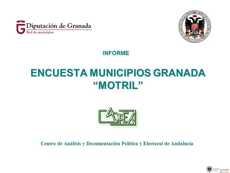 ENCUESTA MUNICIPIOS GRANADA MOTRIL Centro de Análisis y Documentación Política y Electoral de Andalucía INFORME