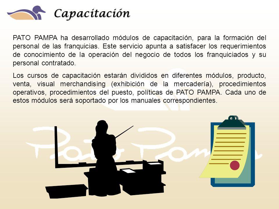 PATO PAMPA ha desarrollado módulos de capacitación, para la formación del personal de las franquicias. Este servicio apunta a satisfacer los requerimi