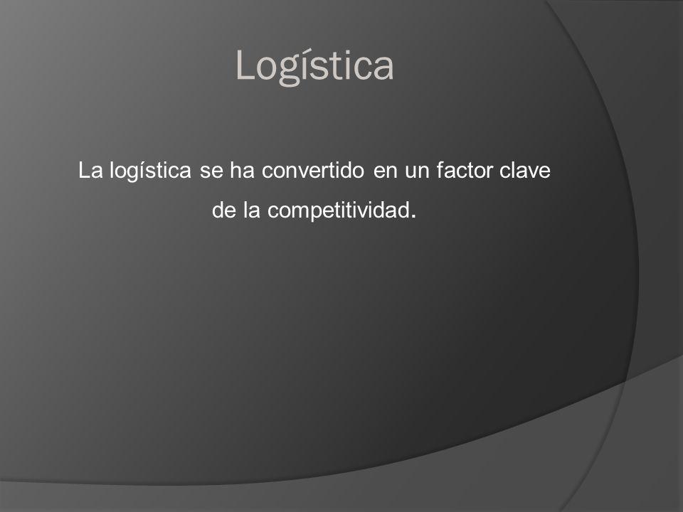 Logística La logística se ha convertido en un factor clave de la competitividad.