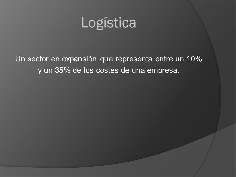 Logística Un sector en expansión que representa entre un 10% y un 35% de los costes de una empresa.