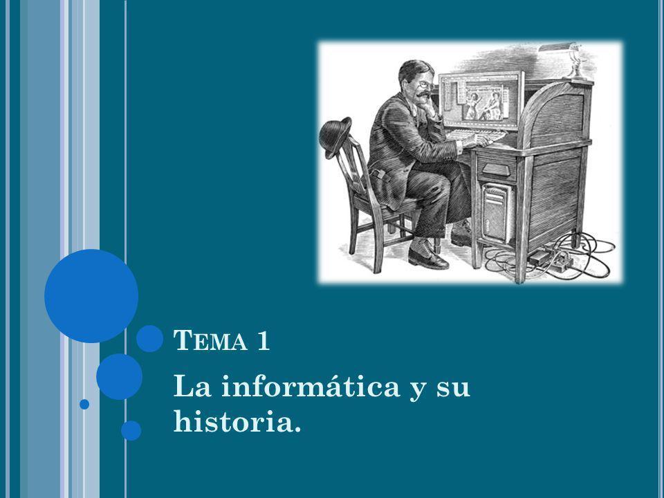 T EMA 1 La informática y su historia.