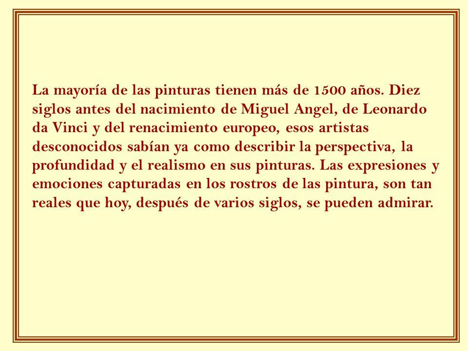 La mayoría de las pinturas tienen más de 1500 años.