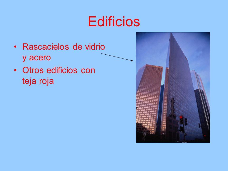 Edificios Rascacielos de vidrio y acero Otros edificios con teja roja