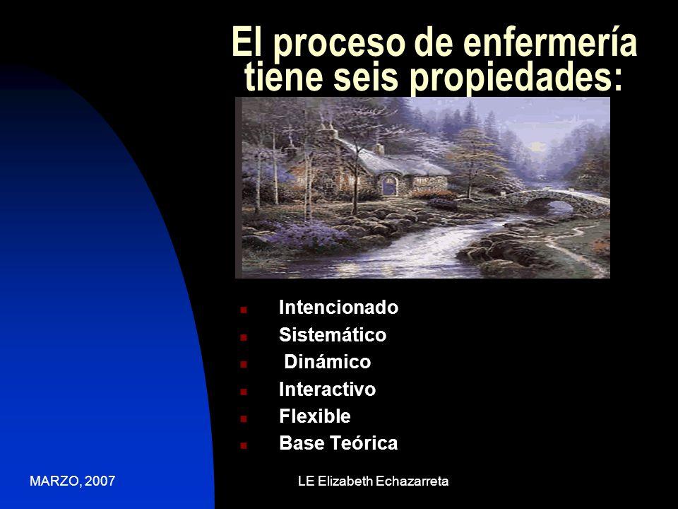 MARZO, 2007LE Elizabeth Echazarreta Qué es el Pensamiento Crítico en Enfermería.