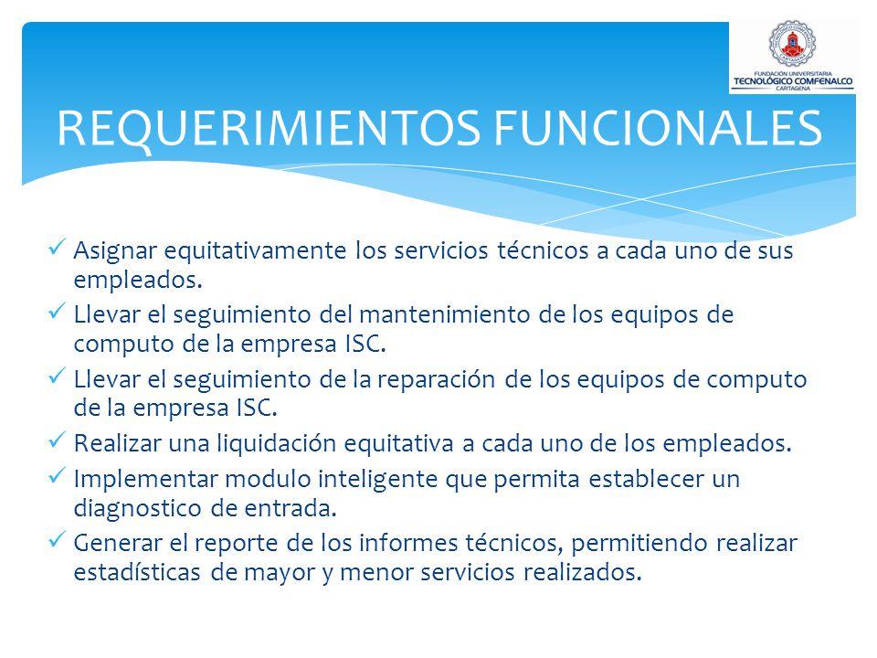 Asignar equitativamente los servicios técnicos a cada uno de sus empleados.