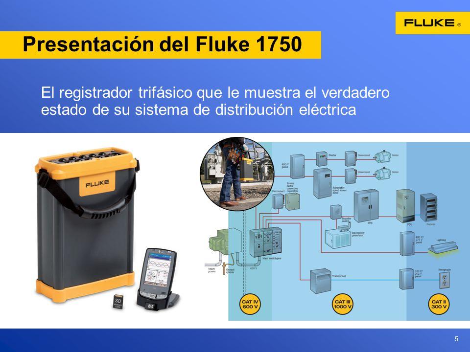 5 Presentación del Fluke 1750 El registrador trifásico que le muestra el verdadero estado de su sistema de distribución eléctrica