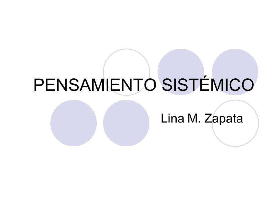 PENSAMIENTO SISTÉMICO Lina M. Zapata