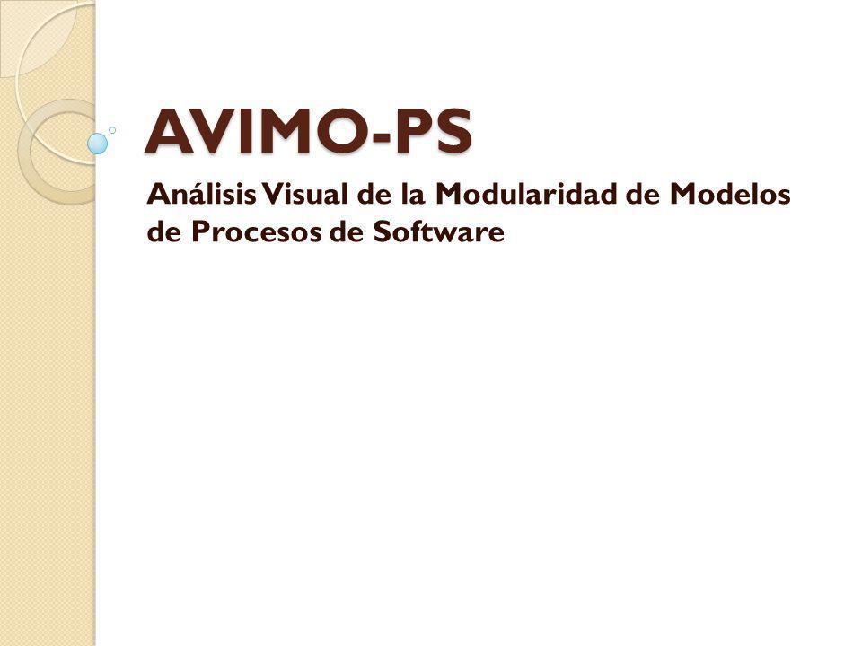 AVIMO-PS Análisis Visual de la Modularidad de Modelos de Procesos de Software