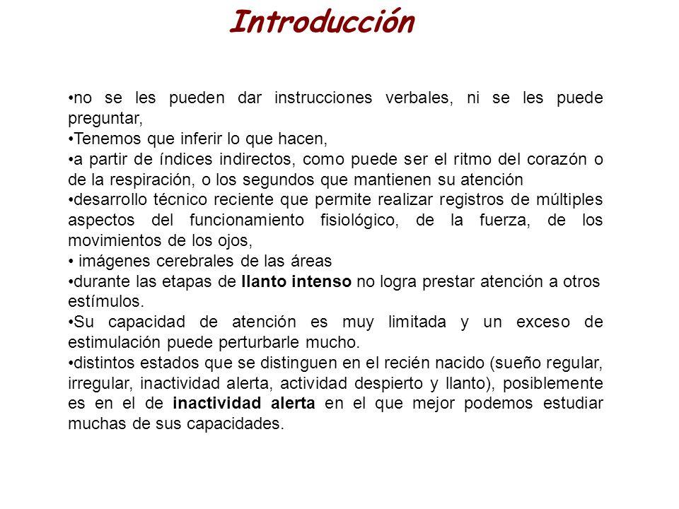 Introducción no se les pueden dar instrucciones verbales, ni se les puede preguntar, Tenemos que inferir lo que hacen, a partir de índices indirectos,