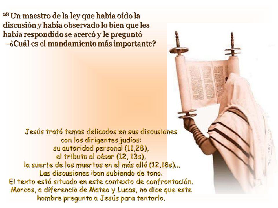 Texto: Marcos 12, 28-34 / 31 T.O.–B- Comentarios y presentación: Asun Gutiérrez Cabriada.