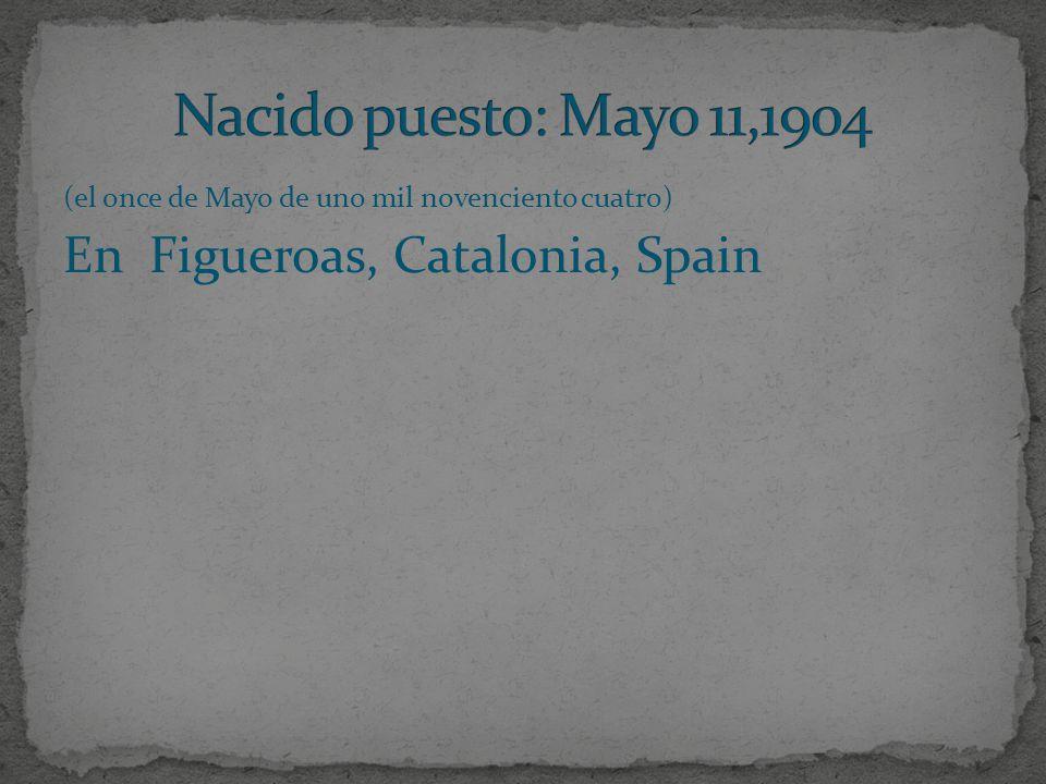 (el once de Mayo de uno mil novenciento cuatro) En Figueroas, Catalonia, Spain