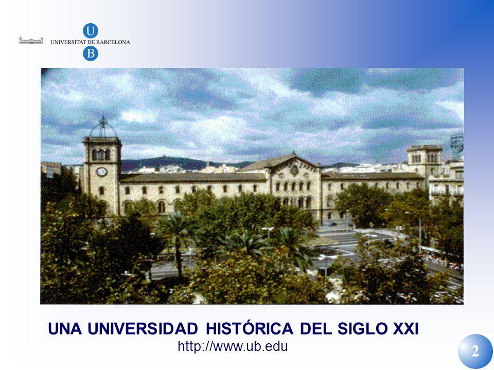 2 UNA UNIVERSIDAD HISTÓRICA DEL SIGLO XXI http://www.ub.edu