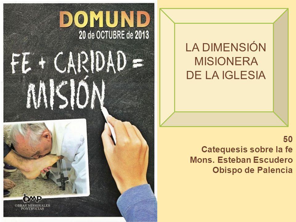 LA DIMENSIÓN MISIONERA DE LA IGLESIA 50 Catequesis sobre la fe Mons. Esteban Escudero Obispo de Palencia