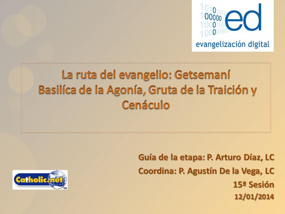 Guía de la etapa: P. Arturo Díaz, LC Coordina: P. Agustín De la Vega, LC 15ª Sesión 12/01/2014 12/01/2014
