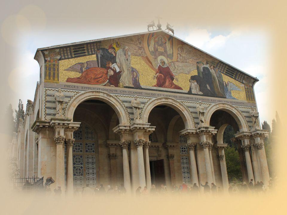 Fachada de la Basílica de Getsemaní La Basílica de Getsemaní, también conocida como Basílica de las Naciones o de la Agonía