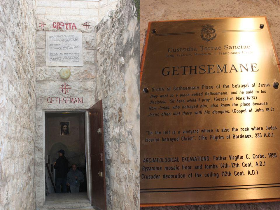 La gruta de los Apóstoles o del Prendimiento conserva vestigios de una veneración ininterrumpida.