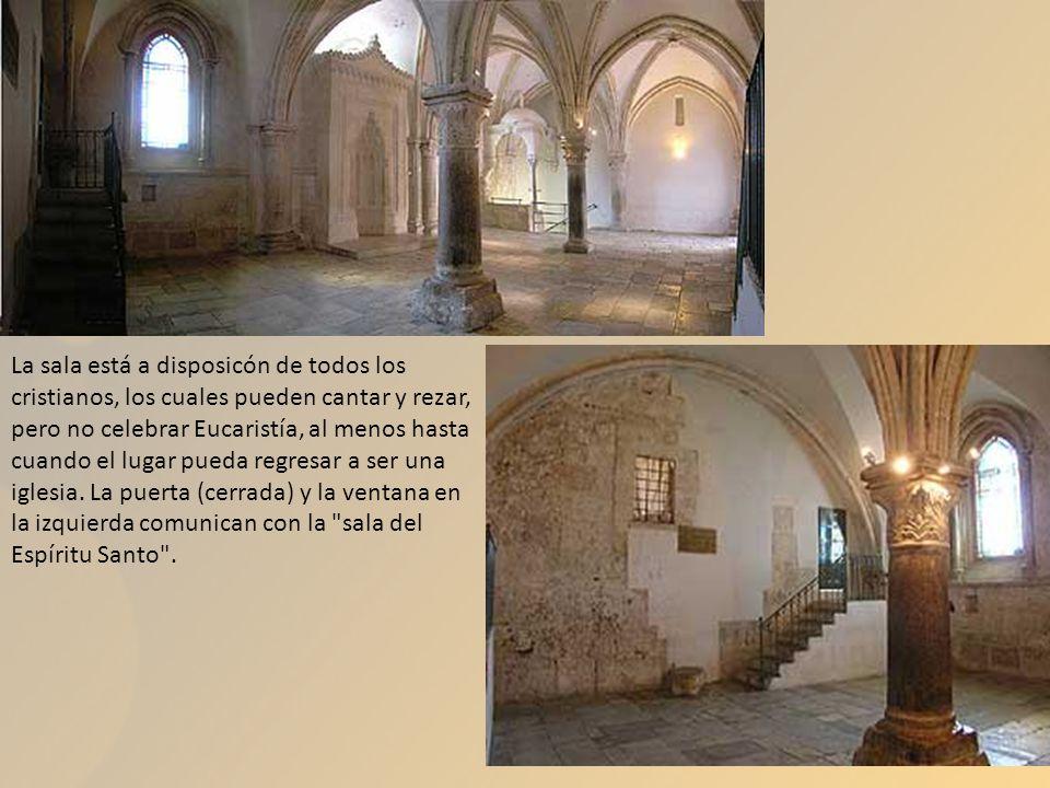 La sala está a disposicón de todos los cristianos, los cuales pueden cantar y rezar, pero no celebrar Eucaristía, al menos hasta cuando el lugar pueda