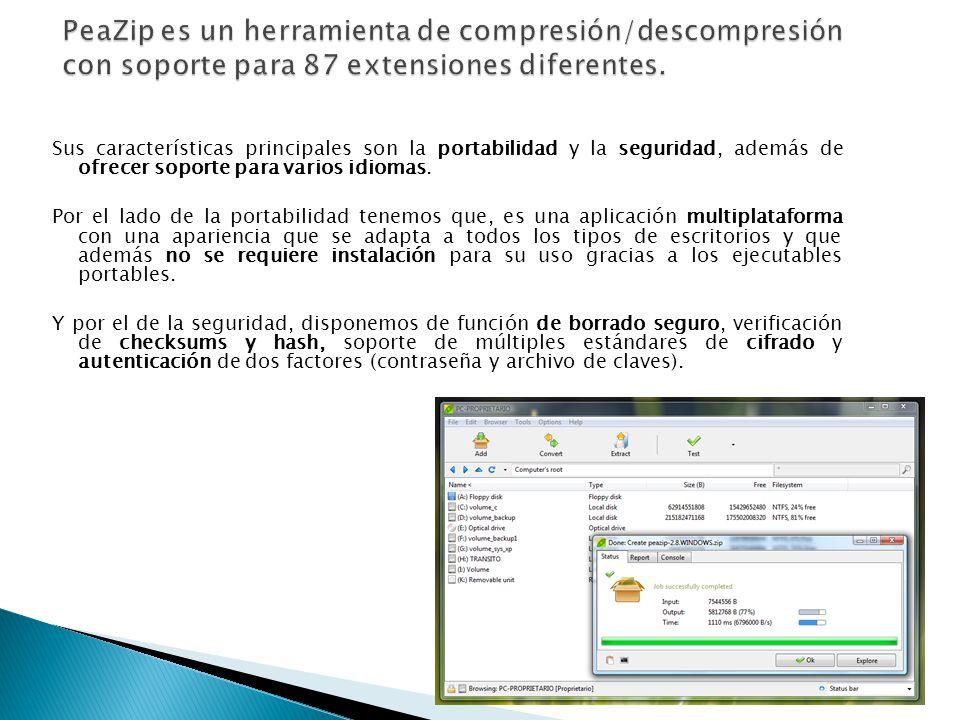 7-Zip Un programa Software Libre distribuido bajo licencia GNU LGPL que nos permitirá comprimir y descomprimir archivos de múltiples formatos en equipos con sistema operativo Windows, que también dispone de una versión en línea de comandos para utilizarlo en sistemas Linux.