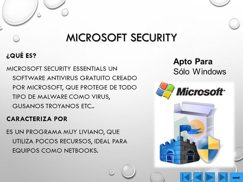 MICROSOFT SECURITY ¿QUÉ ES.
