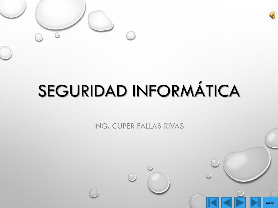 SEGURIDAD INFORMÁTICA ING. CUPER FALLAS RIVAS