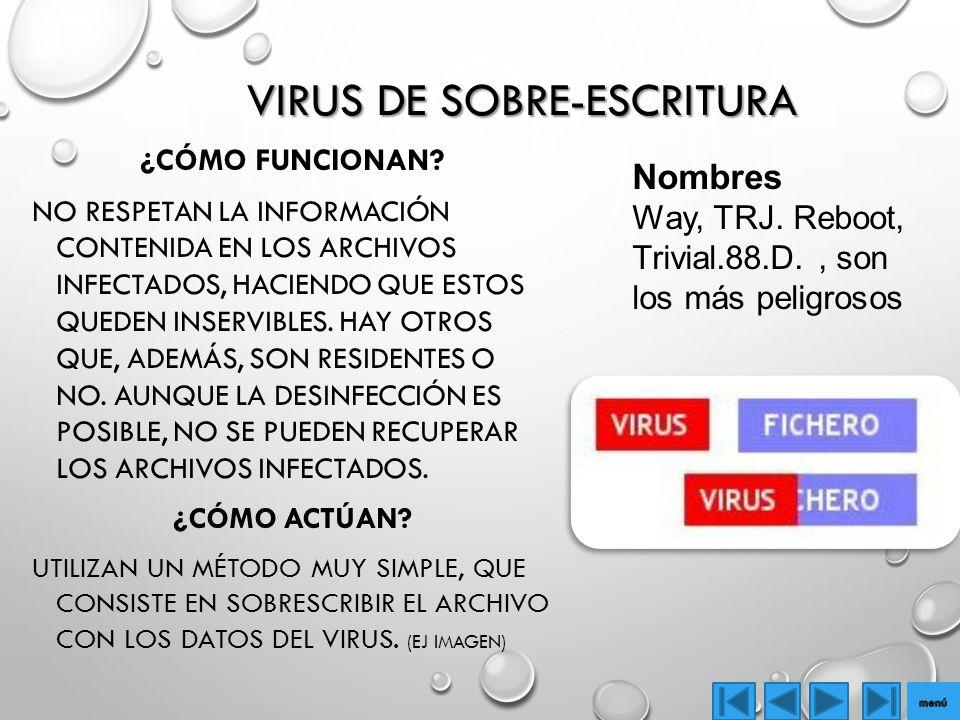 VIRUS DE SOBRE-ESCRITURA ¿CÓMO FUNCIONAN.