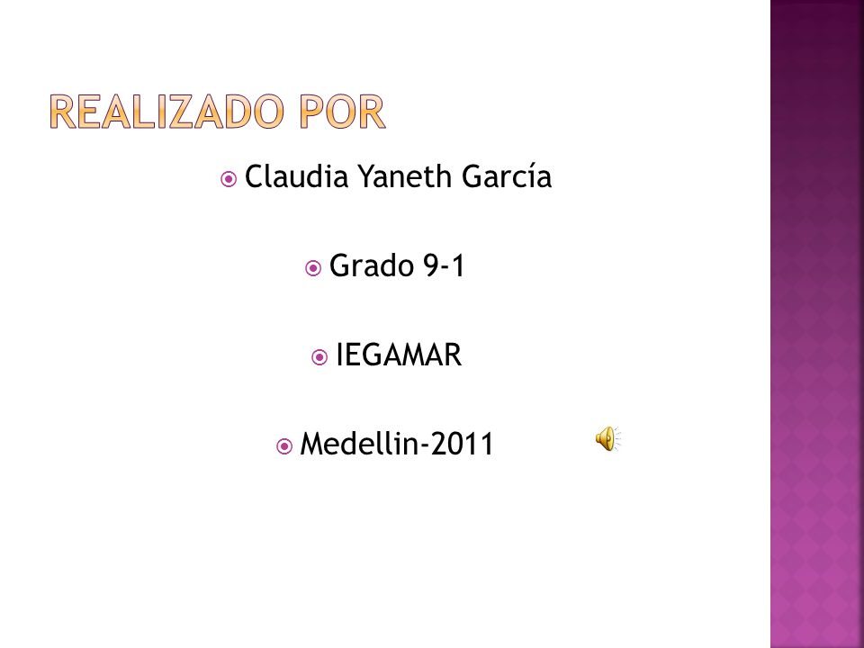 Claudia Yaneth García Grado 9-1 IEGAMAR Medellin-2011