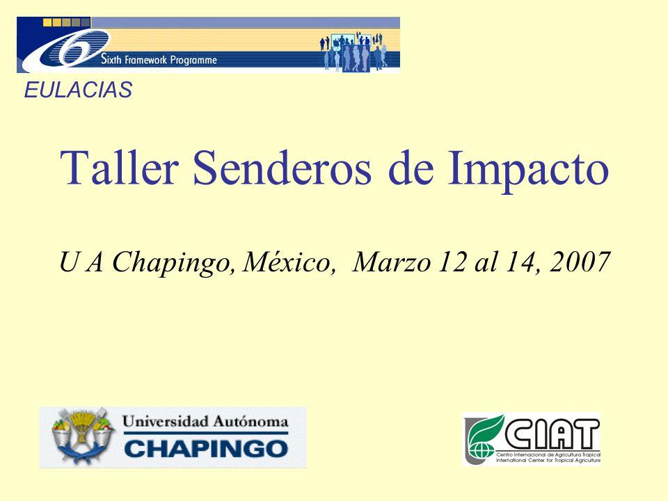 Taller Senderos de Impacto U A Chapingo, México, Marzo 12 al 14, 2007 EULACIAS