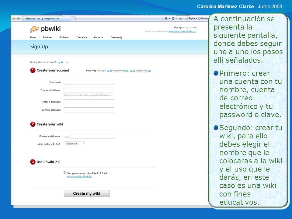 Luego de realizar las modificaciones pertinentes puedes comenzar a trabajar en la wiki.