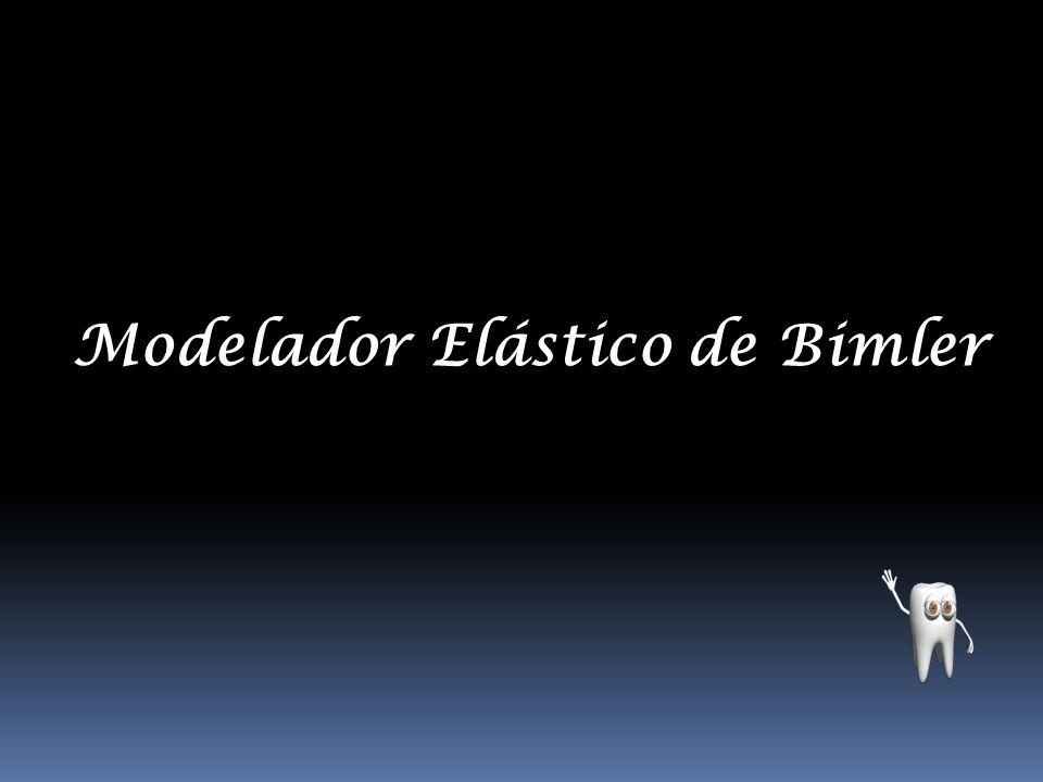 Modelador elástico de BIMLER tipo C Arco intermaxilar 0.9 mm duro-elástico, resorte anterior 0.8 mm duro elástico, resorte de Coffin 0.9 mm duro-elástico, descanso oclusal 0.8 mm duro-elástico, arco mandibular 0.9 mm duro- elástico, arco de conexión inferior 0.9 mm duro- elástico