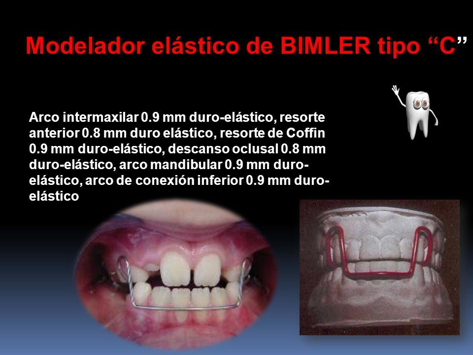 Modelador elástico de BIMLER tipo C Arco intermaxilar 0.9 mm duro-elástico, resorte anterior 0.8 mm duro elástico, resorte de Coffin 0.9 mm duro-elást