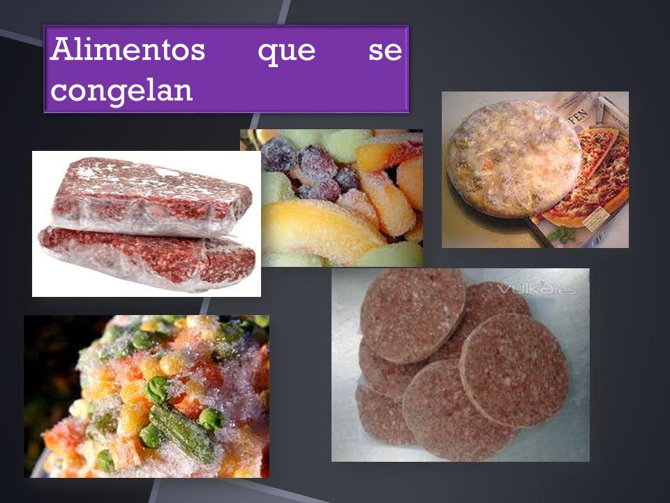 Alimentos que se congelan
