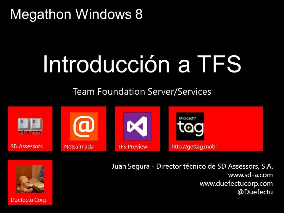 User Name Juan Segura @Duefectu Actores de TFS