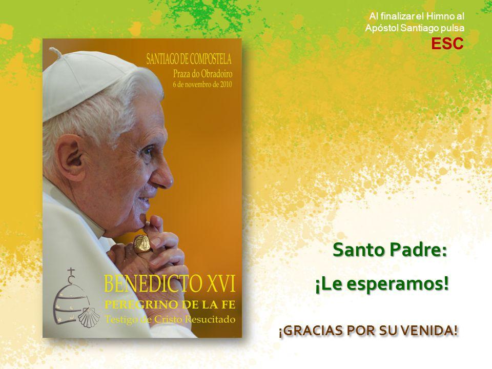 Benedicto XVI es quien ejerce hoy esta función en la Iglesia. Él es el sucesor de Pedro Él es el que va a venir a visitarnos El romano pontífice, como