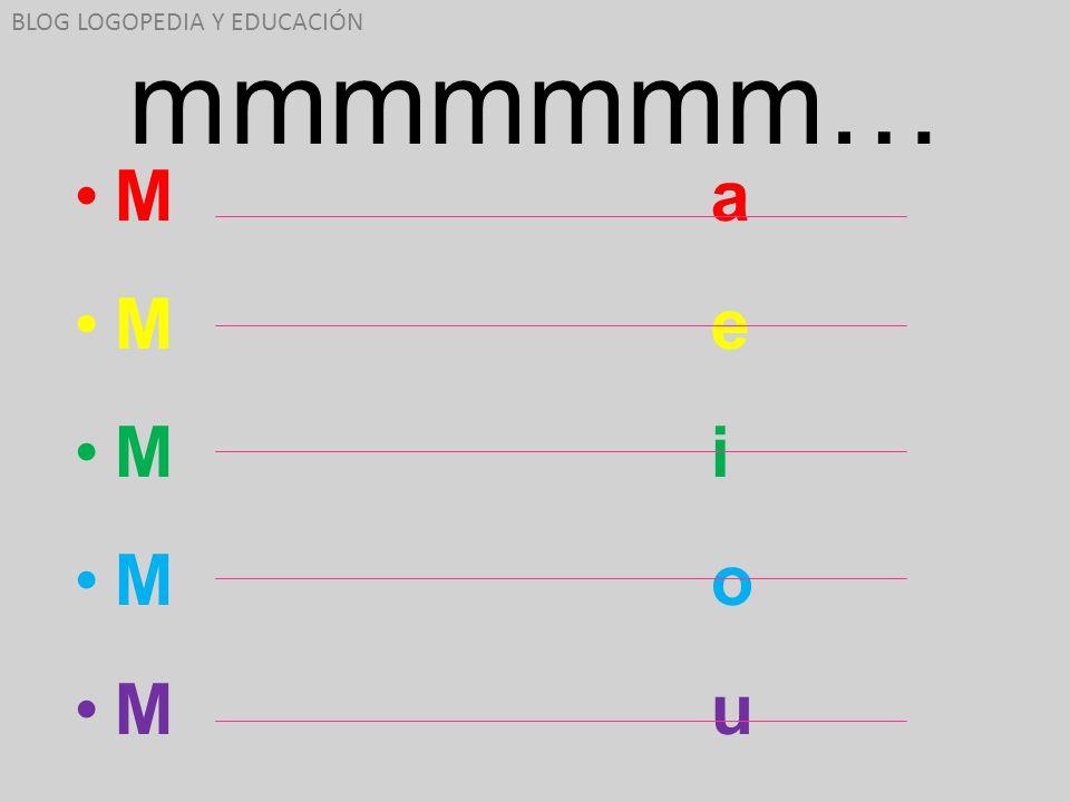mmmmmmm… M a M e M i M o M u BLOG LOGOPEDIA Y EDUCACIÓN