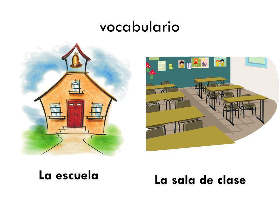 vocabulario La escuela La sala de clase