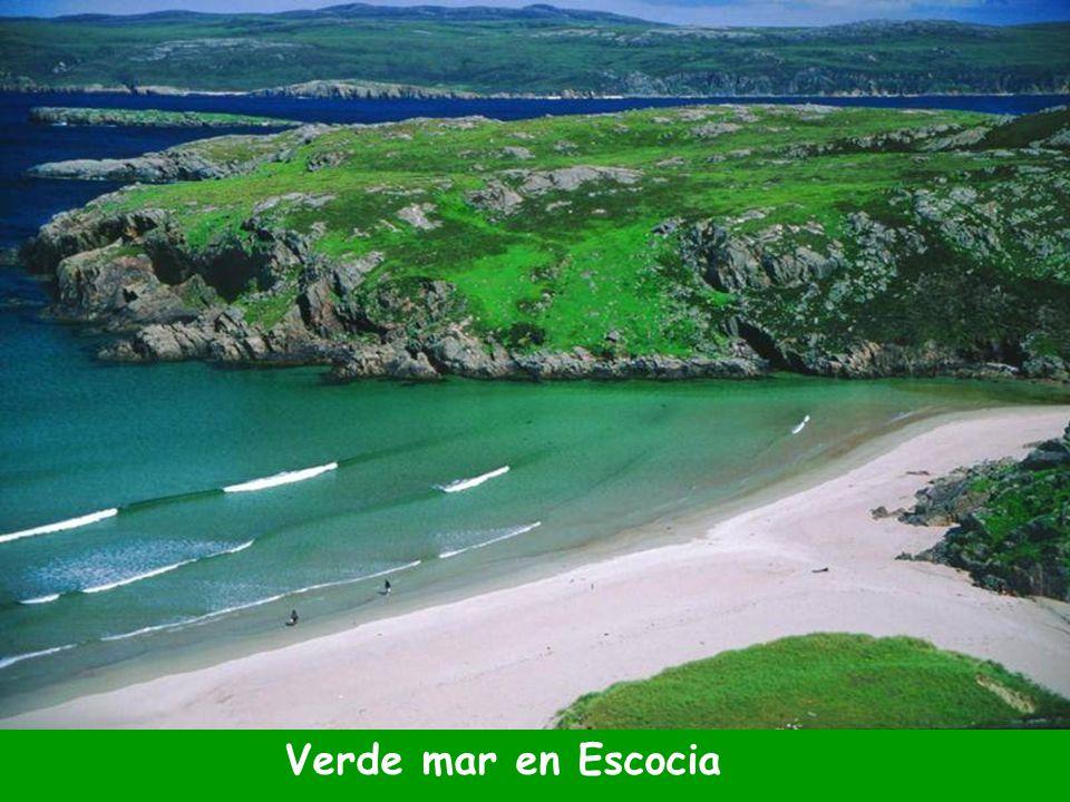 Verde mar en Escocia