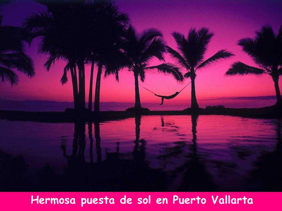 Hermosa puesta de sol en Puerto Vallarta