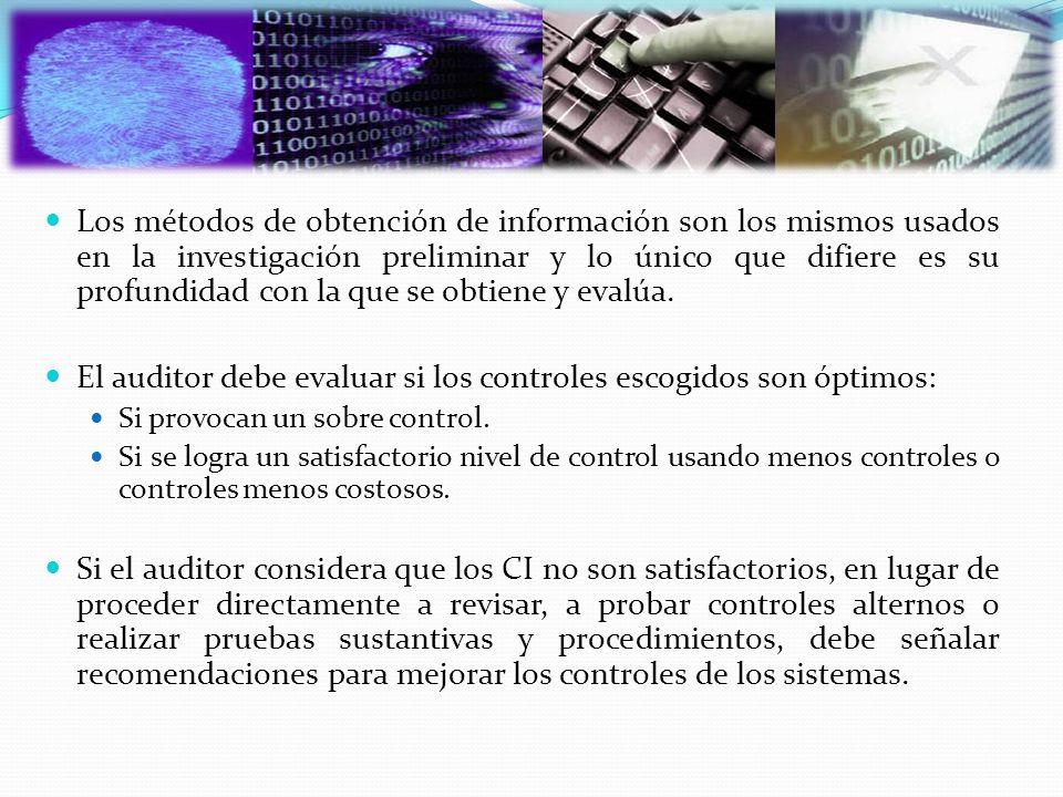 Los métodos de obtención de información son los mismos usados en la investigación preliminar y lo único que difiere es su profundidad con la que se ob